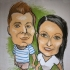 Malba karikatur - karikaturista na narozeninové oslavě 28092014